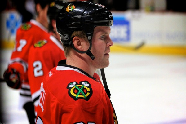 Your first star of the game, Bryan Bickell. Yes, really. (Photo: Mel Boysen/flickr)