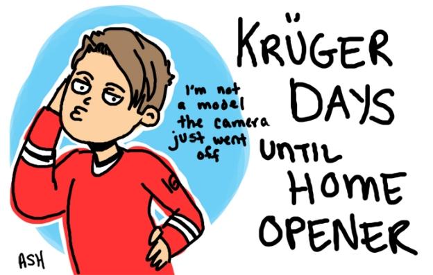 kruger days until home opener