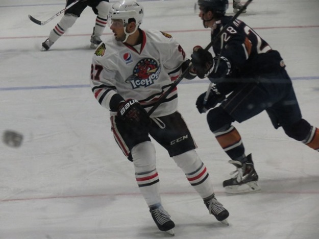 Brandon Pirri picked up 2 assists during Saturday night's game. (Photo Credit: Kim Wrona)