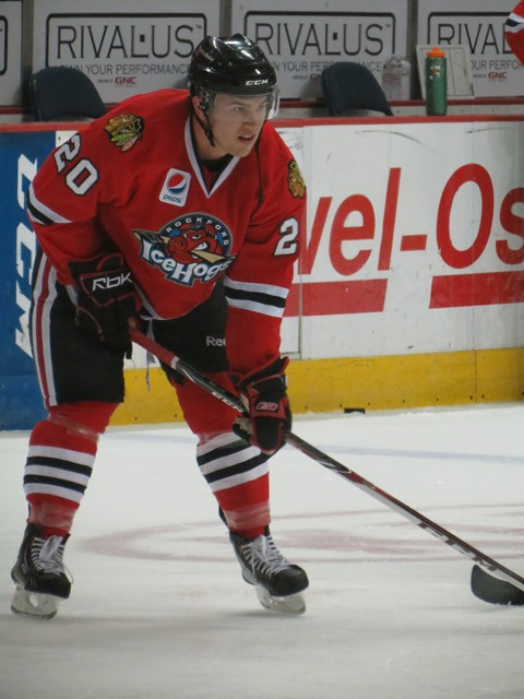 Pat Mullane scored for the IceHogs on Saturday night. (Photo Credit: Kim Wrona)