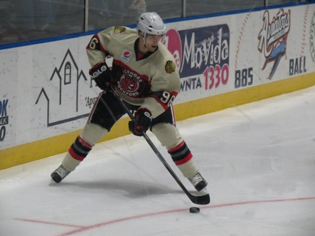 Pierre-Marc Bouchard tallied for Rockford on Saturday night. (Photo Credit: Kim Wrona)
