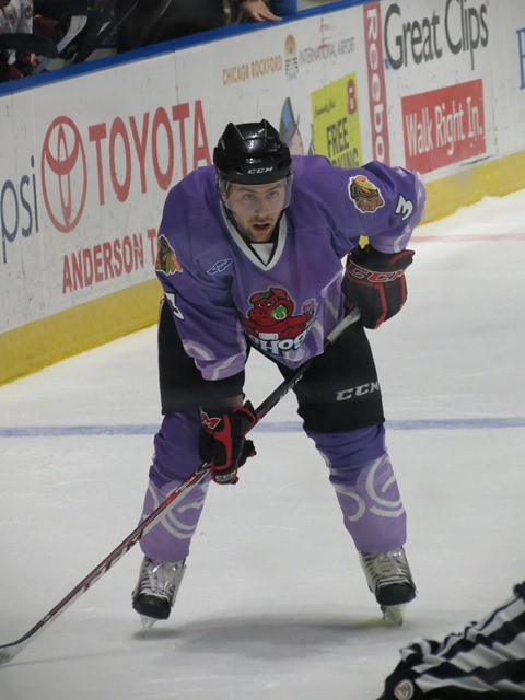 IceHogs defenseman Mathieu Brisebois tallied on Friday night for Rockford. (Photo Credit: Kim Wrona)