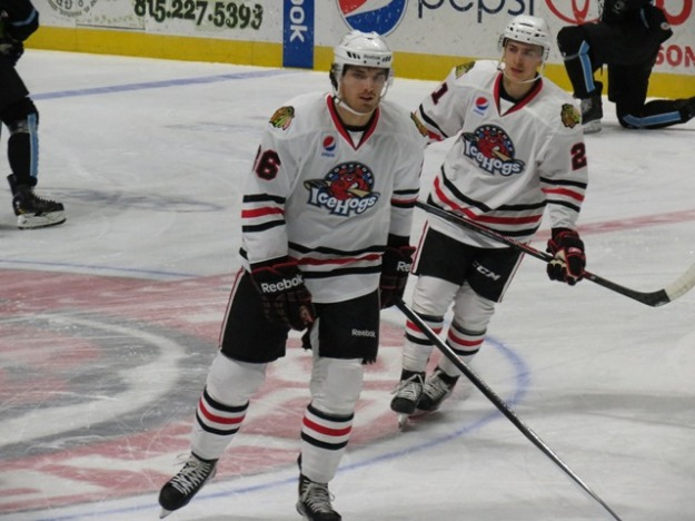 IceHogs defenseman Stephen Johns and center Teuvo Teravainen have both contributed since coming to Rockford. (Photo Credit:  Kim Wrona)
